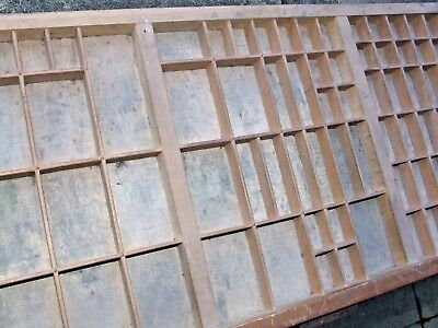 Letterpress Printing WOODEN TYPECASE Compositors Case Printers Tray Good Cond.