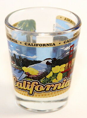California State Wraparound Shot Glass Shotglass