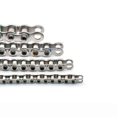 Precision Hollow Pin Roller Chain #35/#40/#50/#60 304 Stainless Steel x 1Meter