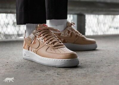 NIKE AIR FORCE 1 07 LV8 Desert Camo Pack Beige size 9uk 44eur 823511 ... 7e9dc3131b32