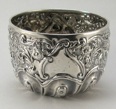 Sterling Silver Sugar Bowl Wakely & Wheeler 1892 Repousse Victorian