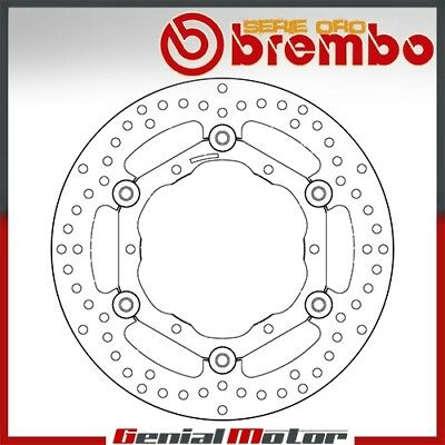 Brembo Serie Oro Floating Front Brake Disc for Yamaha Wr F 2003 > 2015