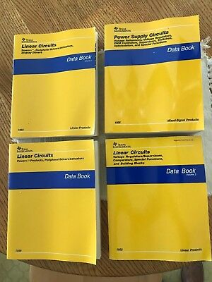 Texas Instruments 4 Data Books~ Paper Back