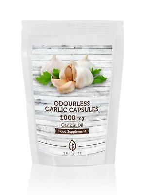 Odourless Garlic 1000mg Oil Extract 30-60-90-120-180-250-500-1000 Softgel Capsul