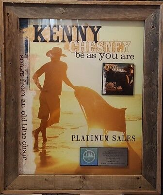 Kenny Chesney - Be As You Are, Platinum Sales Award, Wood-framed.