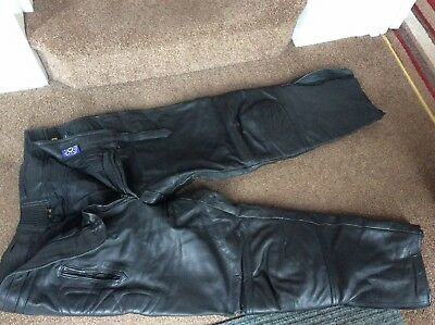 Black leather motorcycle Trousers Atiko Size 44