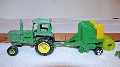 LOT (5) JOHN DEERE Tractor & IMPLEMENTS 1/64TH SCALE ERTL Tonka FARM TOYS Used