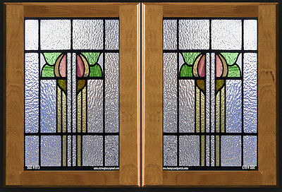 Heritage  Stained glass inserts for Cabinet doors new & existing Kitchens