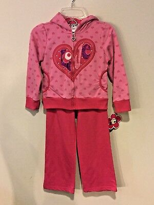 Girls Specialty Girl Winter Outfit Set Lot Pants & Zip Up Jacket Pink ~ Size 6