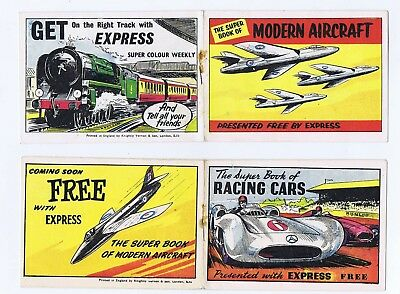 Express Super Colour Weekly Comic Free Gift X2 Super Books 1960 Issues  #1 & #2