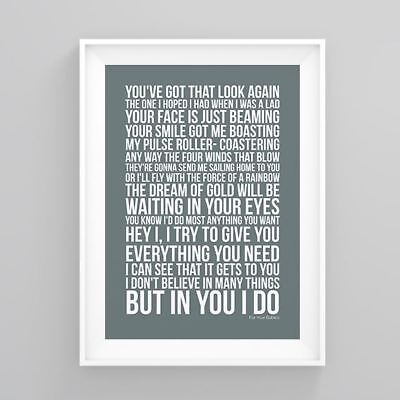 Simply Red For Your Babies Lyrics Poster Print Wall Song Artwork