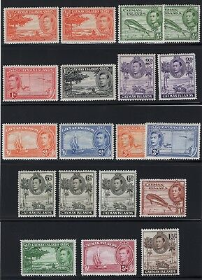 1938 Cayman Isl. SC#100-111, SG#115-126. Mint, Lightly/Never Hinged, Very Fine