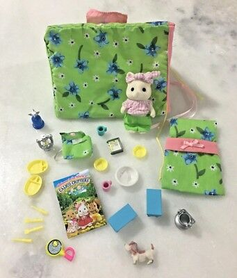 Calico Critters Camping Adventure with Accessories and Bunny Nice