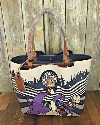 New Dooney & Bourke 2017 Food And Wine Festival Figment Tote Disney White