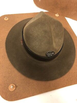 Vintage Boy Scouts Of America Official Campaign Hat & Press 6 7/8 Bsa Crown Band