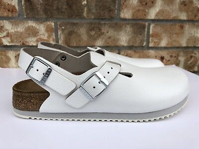 a9cd7f84bfc8 Women s Birkenstock Boston Clog Super Grip Leather White Made In Germany  060131
