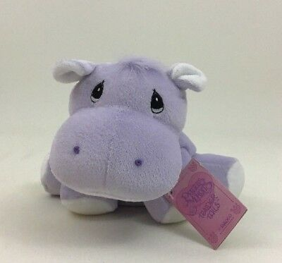 Precious Moments Tender Tails Enesco Hippo Lavender Plush Toy 1998 New w Tags