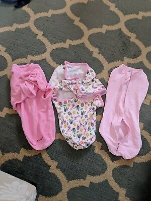 Swaddle Me Baby Girl Small pink Lot Of 3