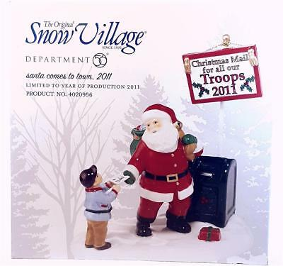 Department 56 Snow Village Series Santa Comes To Town 2011 #4020956 New In Box