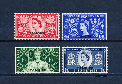 Morocco Agencies  579-82 MNH, Queen Elizabeth Coronation, 1953