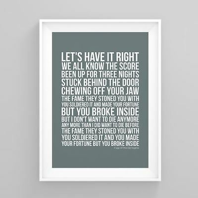 Pete Doherty Flags Of The Old Regime Lyrics Poster Artwork Song Print