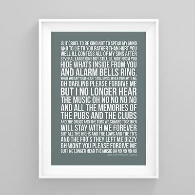 The Libertines Music When The Lights Go Out Lyrics Poster Artwork Song Print