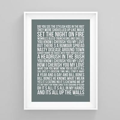 The Libertines Time For Heroes Lyrics Poster Artwork Song Print