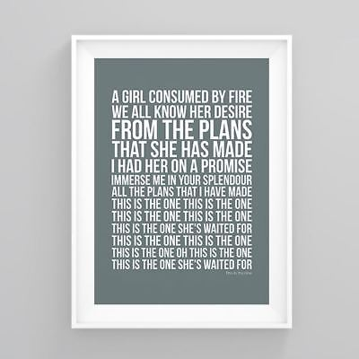 Stone Roses This Is the One Lyrics Poster Print Artwork