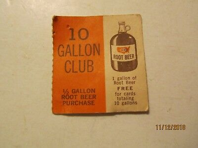 Vintage A&W Root Beer 10 Gallon Club From Trenton, Michigan A&W Receipt