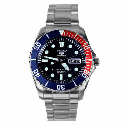 Seiko 5 Sports SNZF15 Automatic Blue Dial Stainless Steel Men's Watch SNZF15K1