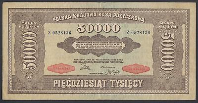 Polen Poland: 50.000 Marek Mark 10.10.1922 (P-33)