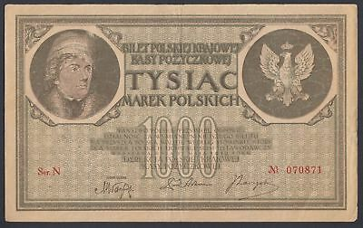 Polen Poland: 1.000 Marek Mark 17.5.1919 (P-22a)