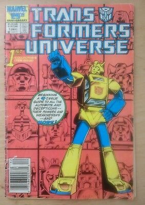 Transformers Universe #1 Marvel US 1986 see pics & description. Bumblebee cover