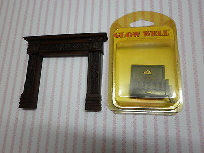 Dolls house fireplace with light up fire 1.12 scale
