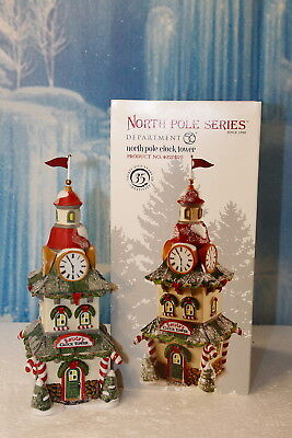 """Department 56 North Pole  """"North Pole Town Clock"""""""
