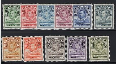 1938 Basutoland. SC#18-28, SG#18-28. Mint, Lightly Hinged, Very Fine
