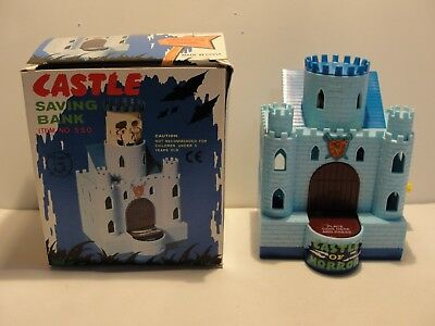 Castle Mechanical Wind Up Savings Coin Bank**new In Original Box***