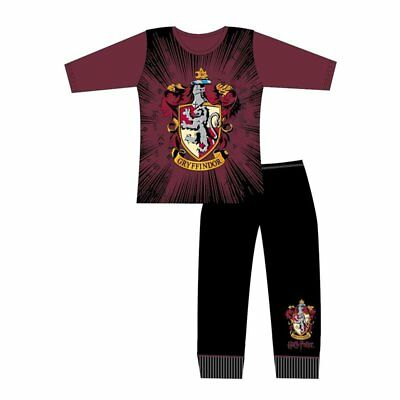 Girls Boys Harry Potter Pjs Kids Long Sleeve Gryffindor Pyjamas New Age 5-12