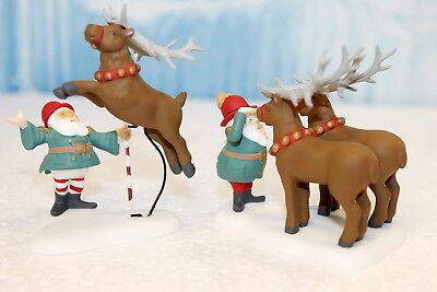 """Department 56 North Pole """"Reindeer Training Camp - Set of 2"""""""