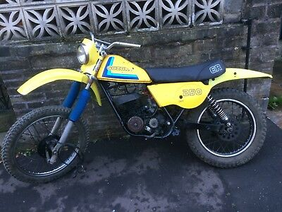 1981 W Reg Suzuki Ts250Er Classic Twinshock Enduro Trailbike Project With Spares