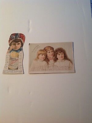 Two Victorian Trade Cards for Hoyt's German Cologne