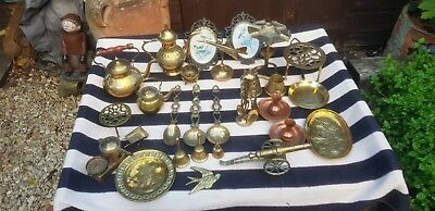 Job Lot of Vintage Brass & Copper Collectables