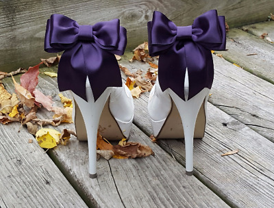 Shoe Clips, Clips for Wedding Shoes Bridal Shoes, Shoe Jewelry, shoe bows satin
