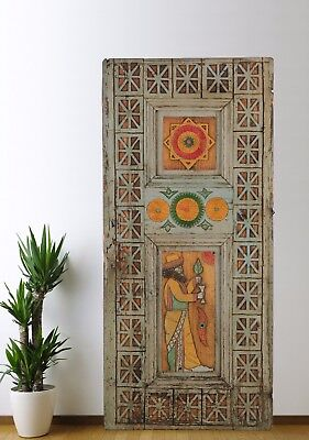 Antique Door Carved,Vintage Solid Wood Panel Decorative Handmade (74'')