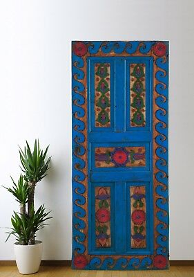 Antique Turkish Door Carved,Vintage Solid Wood Panel Architectural (70'')