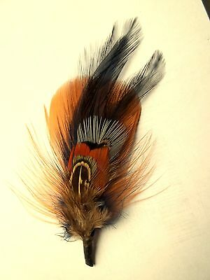 Boutonniere, Hat Feather, groom, groomsmen, buttonhole, Mens lapel pin, feathers