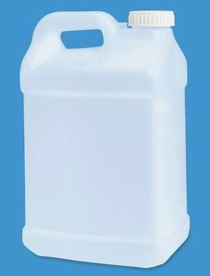 (2) PLASTIC JUGS 2.5 Gallon HDPE 8 Liters Water NEW Free Shipping Storm Storage