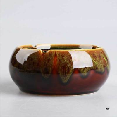 Chinese Tea Art Kiln glaze Ceramic ashtray decoration Cigarette Smoking Tray *