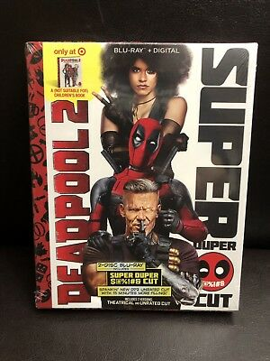 Deadpool 2 Super Duper Cut Target Exclusive Blu-ray + Digital HD + Book NEW