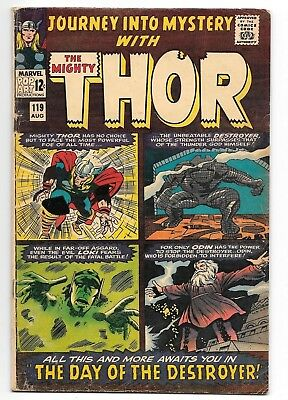 Journey Into Mystery #119 VG+ Destroyer App. Marvel Silver Age Comic 1965 Thor